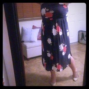 Lane Bryant Large floral maxi dress